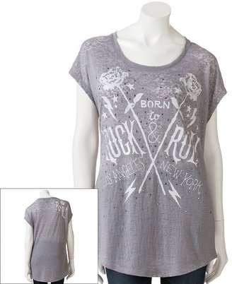 Rock & Republic Rock and republic born to rock and roll burnout tee