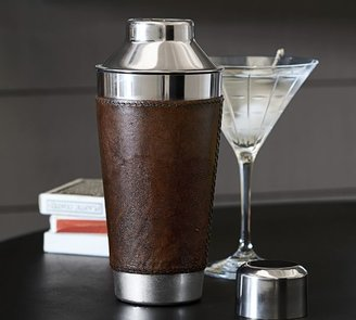 Pottery Barn Saddle Leather Cocktail Shaker