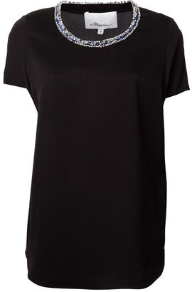 3.1 Phillip Lim embellished neck t-shirt