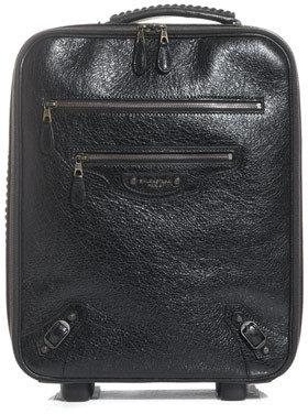 Balenciaga Stud detail leather suitcase