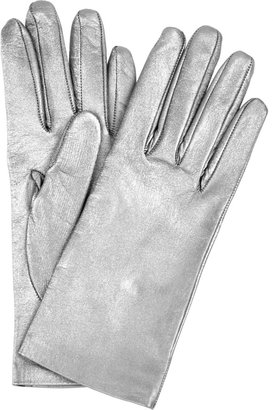 Yves Saint Laurent Metallic leather gloves
