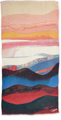 Diane von Furstenberg Kenley Sandscape Scarf, Multicolor