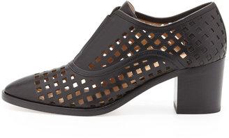 Reed Krakoff Perforated Slip-On Oxford, Black