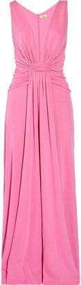 Issa Plunge-front silk-jersey gown