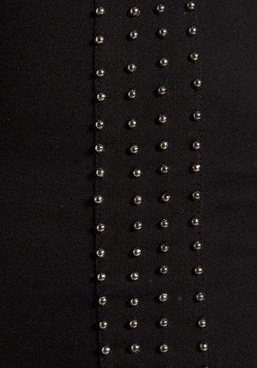 Motel Ariel Dress in Black/Side Stripe Bead