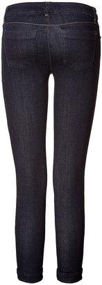 J Brand Jeans Cuffed Dark Blue Skinny Jeans
