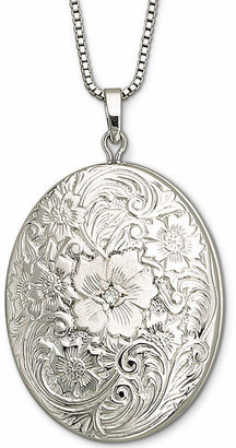 JCPenney FINE JEWELRY Sterling Silver Floral Frame Locket