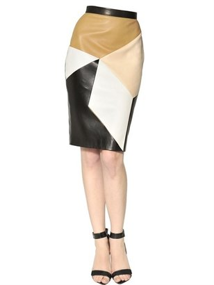 Givenchy Patchwork Nappa Leather Skirt