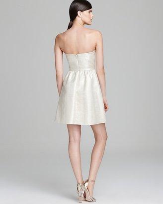 Aqua Dress - Strapless Metallic