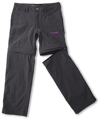 Marmot Kids Lobo's Convertible Pant (Little Kids/Big Kids) (Dark Steel 2) Girl's Casual Pants