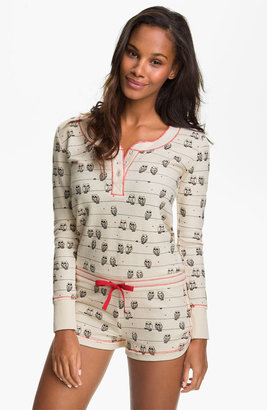 Kensie 'Quite the Character' Thermal Knit Romper