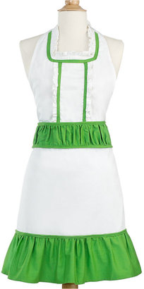 Martha Stewart Collection Green and White Apron