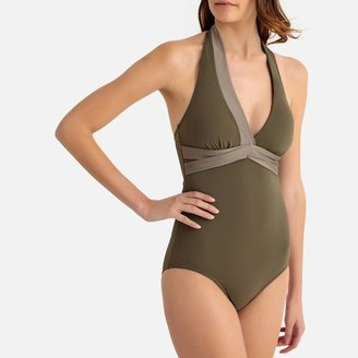La Redoute Collections Two-Tone Bodyshaping Swimsuit