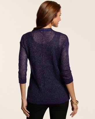 Chico's Lori Lurex Cardigan