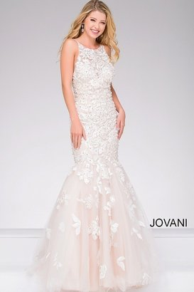 Jovani Sleeveless Long Mermaid Dress 45745