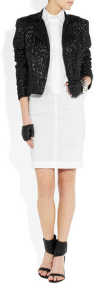 Karl Lagerfeld Bella cotton-poplin shirt dress