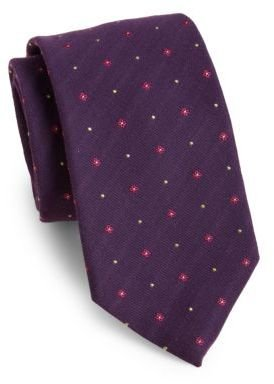 HUGO BOSS Flower Dot Silk Tie