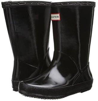 Hunter Original Kids' First Classic Gloss Rain Boot (Toddler) (Black) Kids Shoes