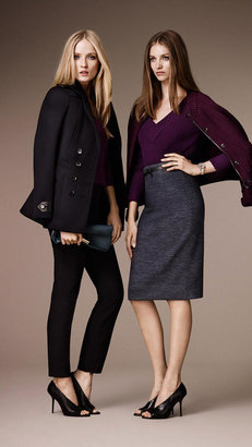 Burberry Tailored Wool Cashmere Pea Coat
