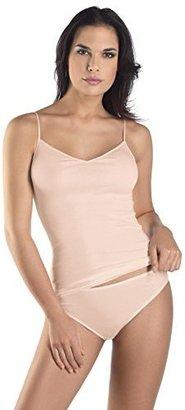 Hanro Womens Cotton Seamless V-Neck Camisole