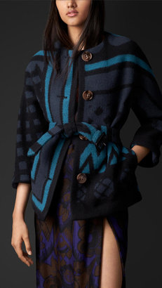 Burberry Geometric Blanket Jacket