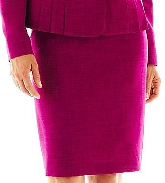 Le Suit Skirt Suit with Pleated Jacket