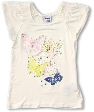 Primigi Viscose T-Shirt (Toddler/Little Kids/Big Kids) (White) - Apparel