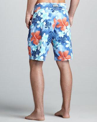 Vilebrequin Ocean Floral-Print Boardshorts