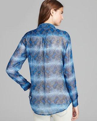Equipment Shirt - Parisian Blue Python Signature