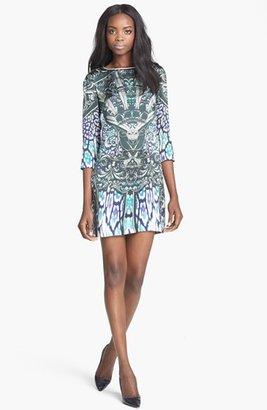 Just Cavalli Print Silk Shift Dress