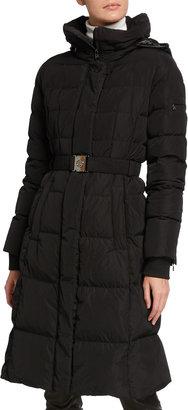 Bogner Carola Detachable-Hood Down Belted Coat