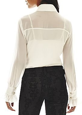 JCPenney Bisou Bisou® Long-Sleeve Tie-Front Blouse