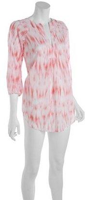 Shoshanna pink ikat print cotton tunic cover up