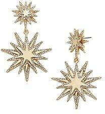 BaubleBar Empyrean Double Starburst Drop Earrings