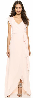 Joanna August Dorian Ruffle Sleeve Wrap Dress $285 thestylecure.com