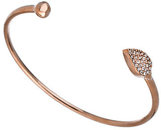 Blu Bijoux Rose Gold Crystal Teardrop Bangle