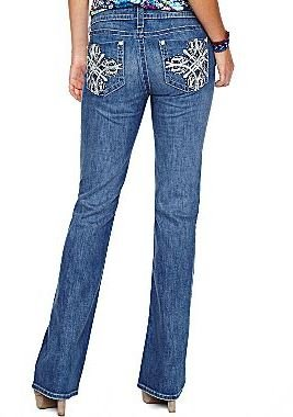 JCPenney a.n.a® Embellished Flap-Pocket Bootcut Jeans