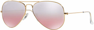 Ray-Ban Sunglasses, RB3025 58 ORIGINAL AVIATOR GRADIENT MIRRORED $165 thestylecure.com