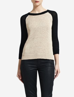 The Limited Colorblocked Raglan-Sleeve Sweater