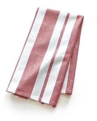 Crate & Barrel Peppermint Stripe Dishtowel