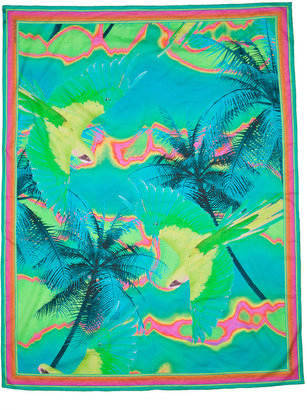 Matthew Williamson Green Tropical Print Sarong