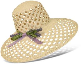 Borsalino Women's Lavender Bow Straw Hat