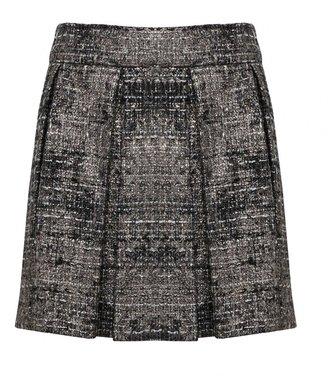 Alice + Olivia Earla Wide Pleat Short Skirt