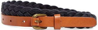 Brooks Brothers Waxed Cotton Braided Belt