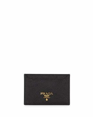 Prada Saffiano Card Holder, Black (Nero) $240 thestylecure.com