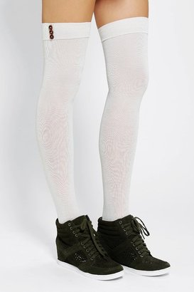 Urban Outfitters Lightweight Buttoned Thigh-High Sock
