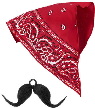Gymboree Junior Buckaroo Bandana & Moustache