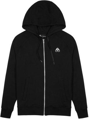 Moose Knuckles Black Cotton-jersey Sweatshirt
