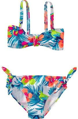 Old Navy Girls Printed Bandeau-Tie Bikinis