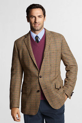 Lands' End Men's Regular Traditional Fit Tweed Houndstooth Sportcoat